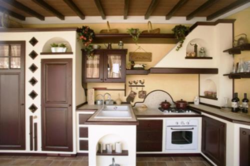 Da le cucine del borgo trovi cucine in legno massello con - Cucine artigianali in legno massello ...
