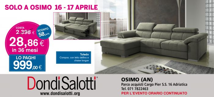SPETTACOLARE 16-17 APRILE DA DONDI SALOTTI a Ancona - SiHappy