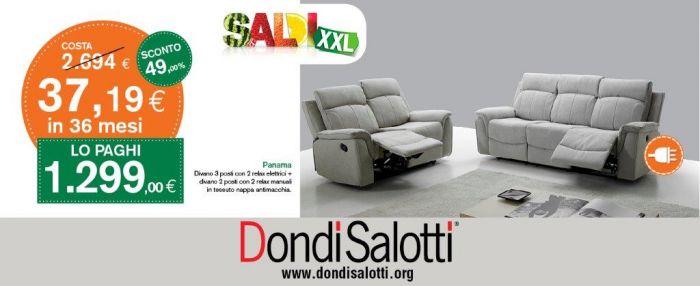 Offerta divano elettrico antimacchia modello Panama a Ancona - SiHappy