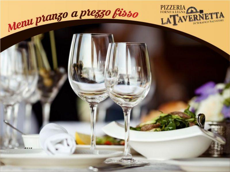 pizzeria la tavernetta menu di pranzo a prezzo fisso
