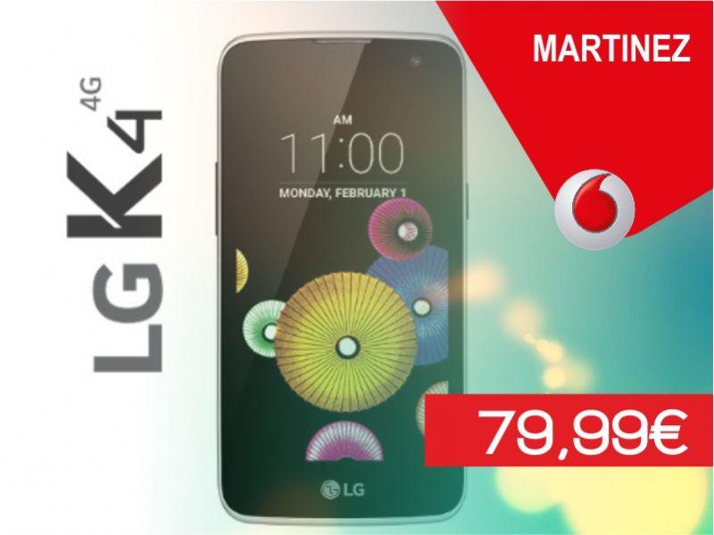 offerta lg k4 4g promozione smartphone vodafone store martinez