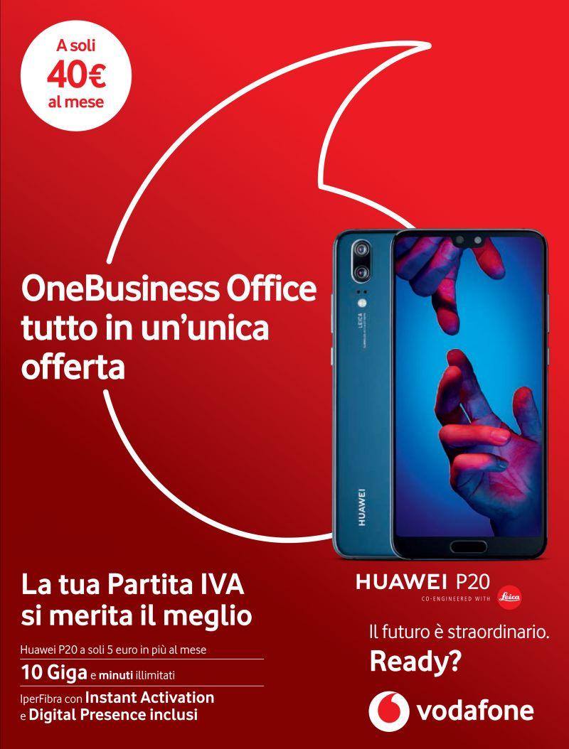 offerta vodafone business tutto incluso - promozione vodafone huawei p20