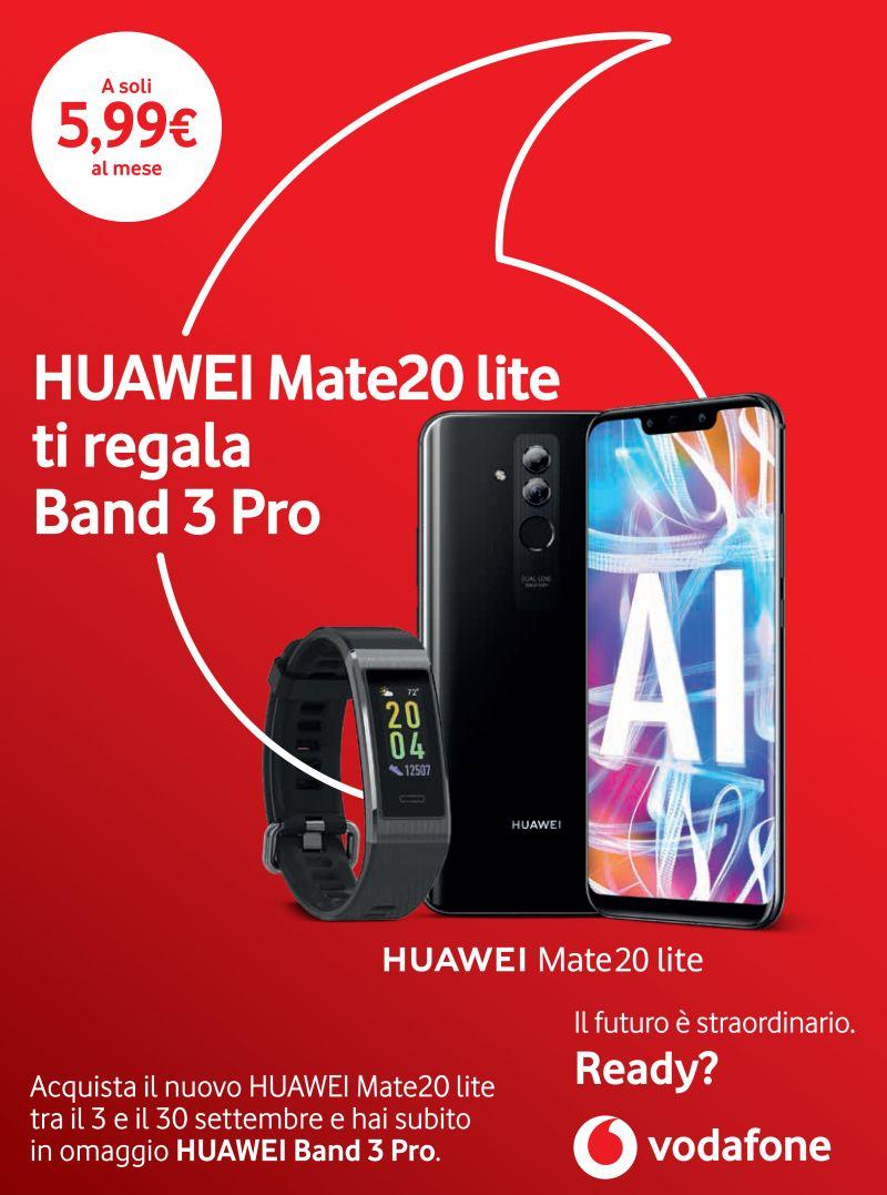 offerta Huawei Mate20 lite con Band 3 Pro - promozione huawei band 3 pro omaggio