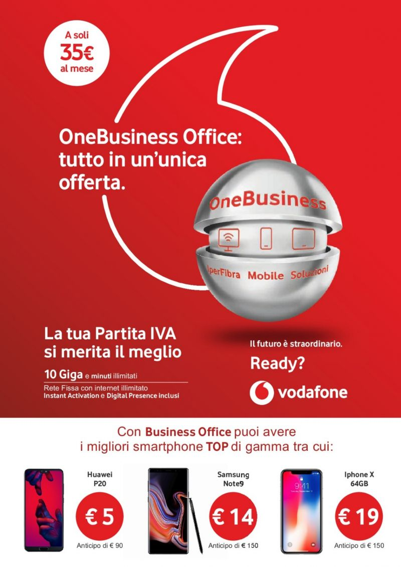 offerta vodafone one business - promozione smartphone top gamma incluso