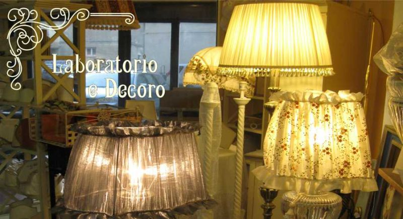 paralumi artigianali in shantung seta lino cotone