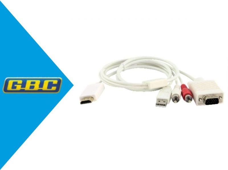 CONVERTITORE HDMI / VGA CON AUDIO STEREO RCA R/L