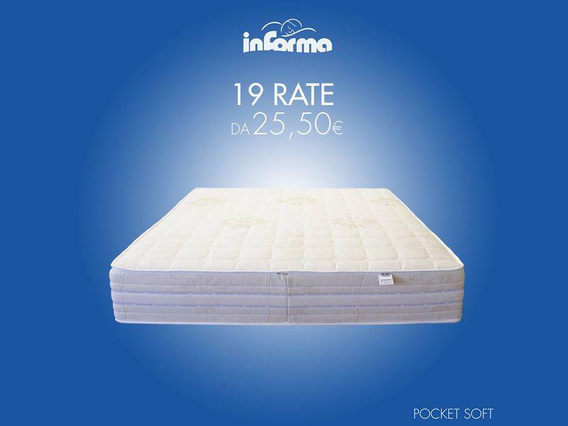 offerta materasso rate mensili soft pocket - promozione materasso molle insacchettate