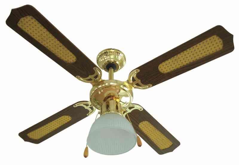 ventilatore a soffitto con illuminazione