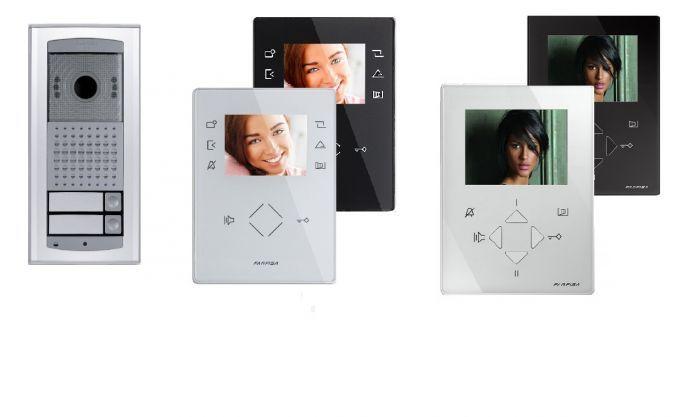 kit videofonico bifamiliare 2 fili