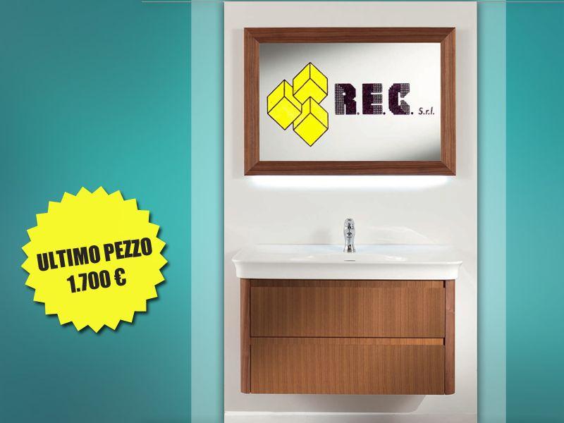 offerta mobile bagno berloni - occasione mobile bagno sospeso noce - rec ceramiche orte