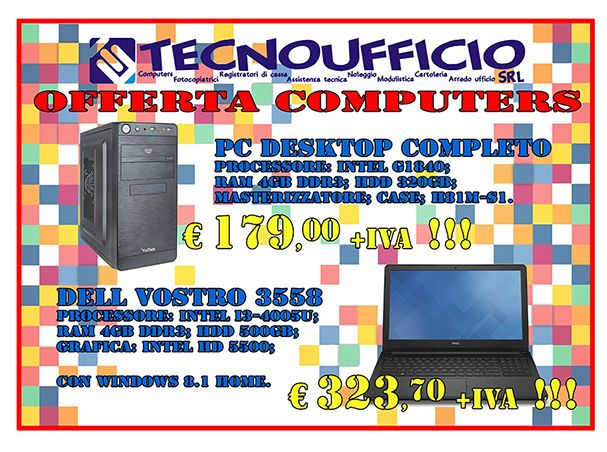 Offerta pc notebook computer