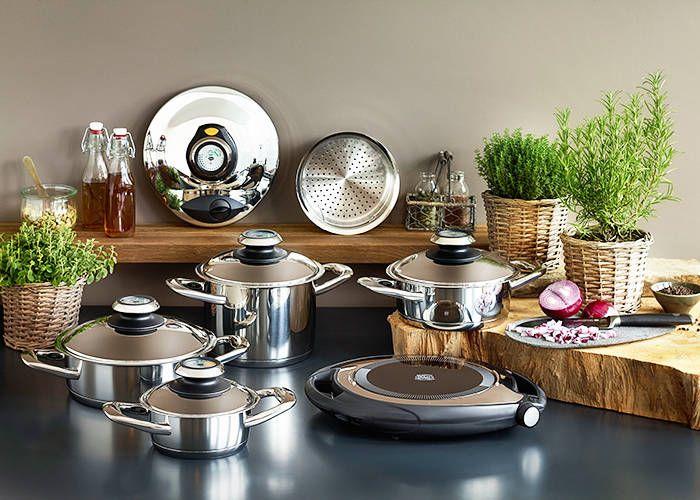 offerta pentole in acciaio inossidabile - occasione cucinare senza grassi Linea Gold padova