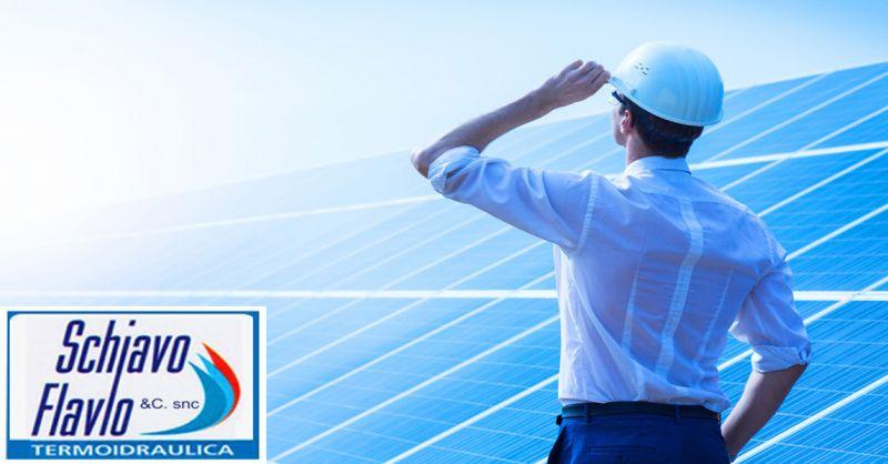 offerta pannelli solari riscadamento fotovoltaico - occasione Termoidraulica Schiavo Vicenza