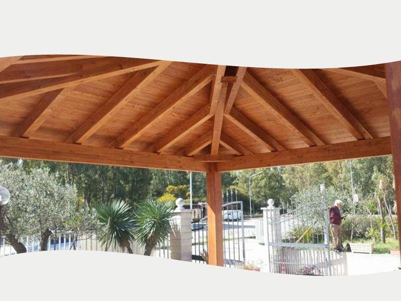 promozione offerta occasione gazebo in legno lamellare feroleto antico