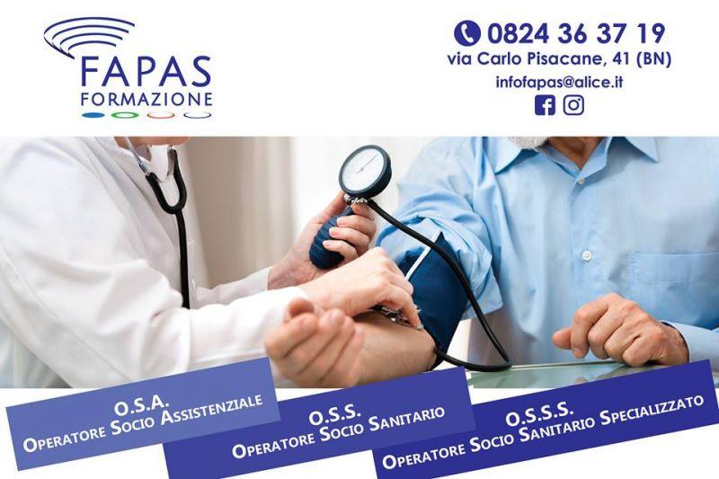 Alla Fapas sono aperte le iscrizioni ai corsi di Operatore socio sanitario.Iscriviti.