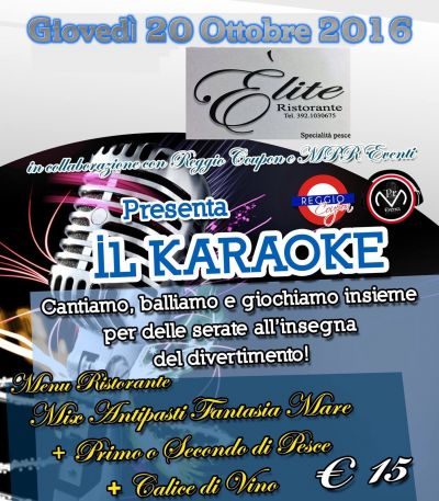 karadance at ristorante elite santa caterina karaoke