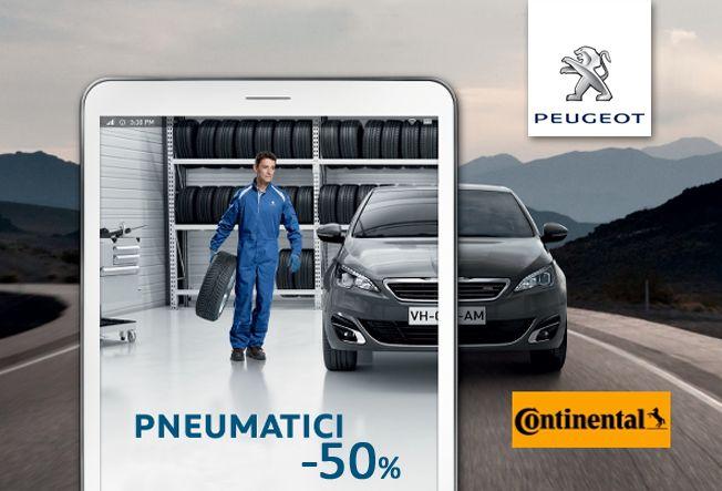 offerta sconto pneumatici continental - promozione acquisto pneumatici - peugeot eredi bellante