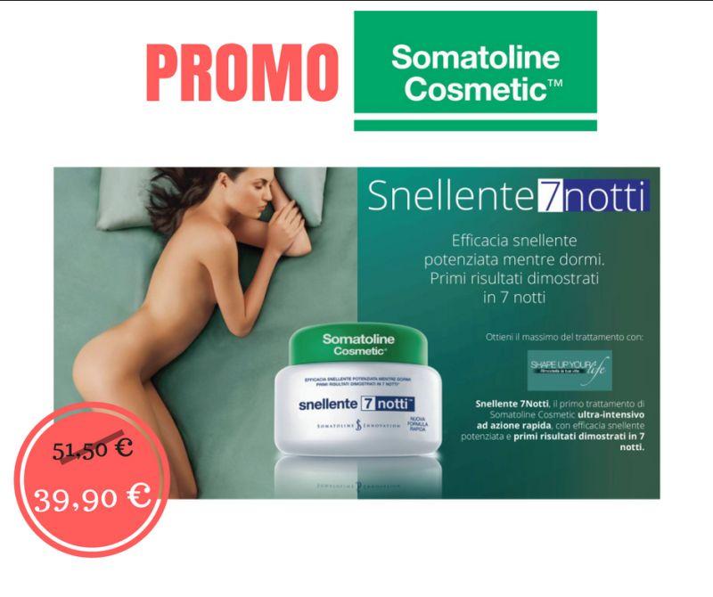 somatoline snellente 7 7notti sconto offerta promo cellulite