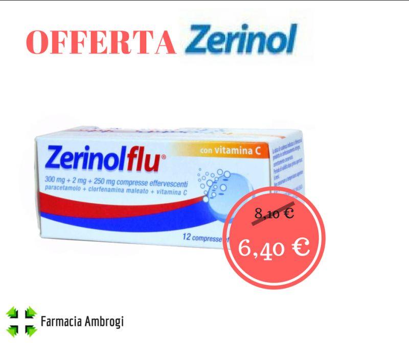 offerta zerinolflu effervescente antipiretico vitamina c febbre influenza sconto