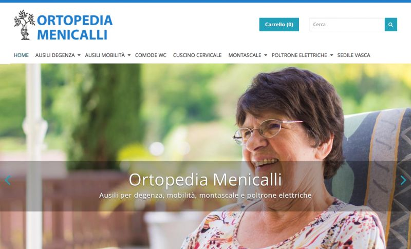 Ortopedia Menicalli - Visita il nostro nuovo E-Commerce