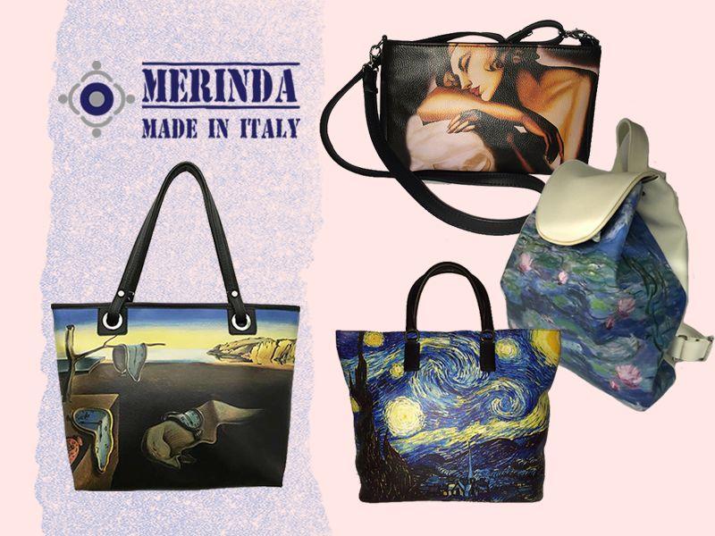 offerta borse artistiche sconto- promozione borsa stampa artistica - merinda