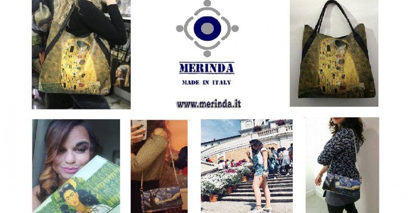 offerta Borse con stampe Artistiche Made in Italy - occasione borse Merinda Linea Arte Donna