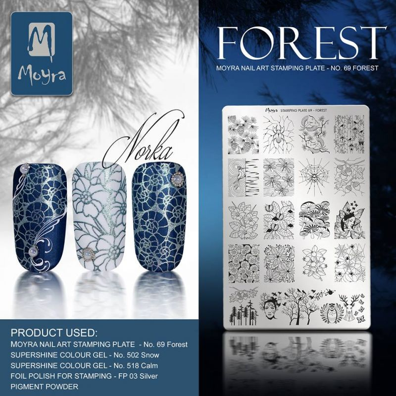 stamping plate moyra - stamping unghie - timbri per unghie - piastra forest -