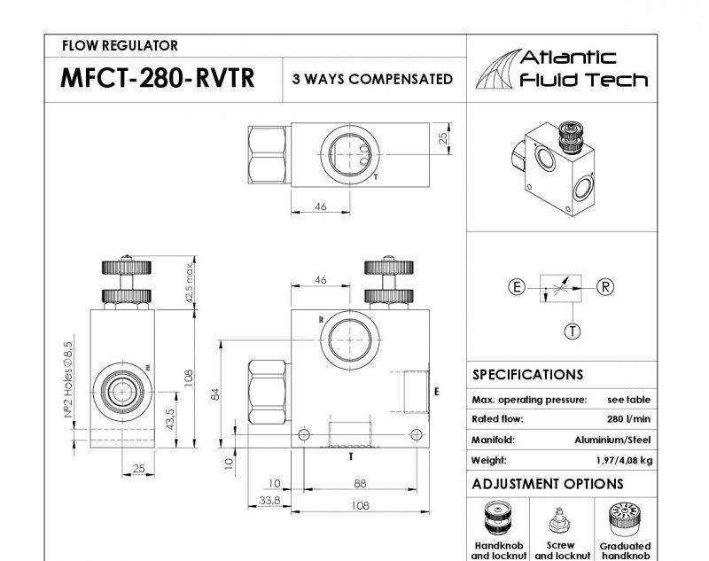Promozione MF000035 Atlantic Fluid Tech - Offerta Flow Divider, Combiner