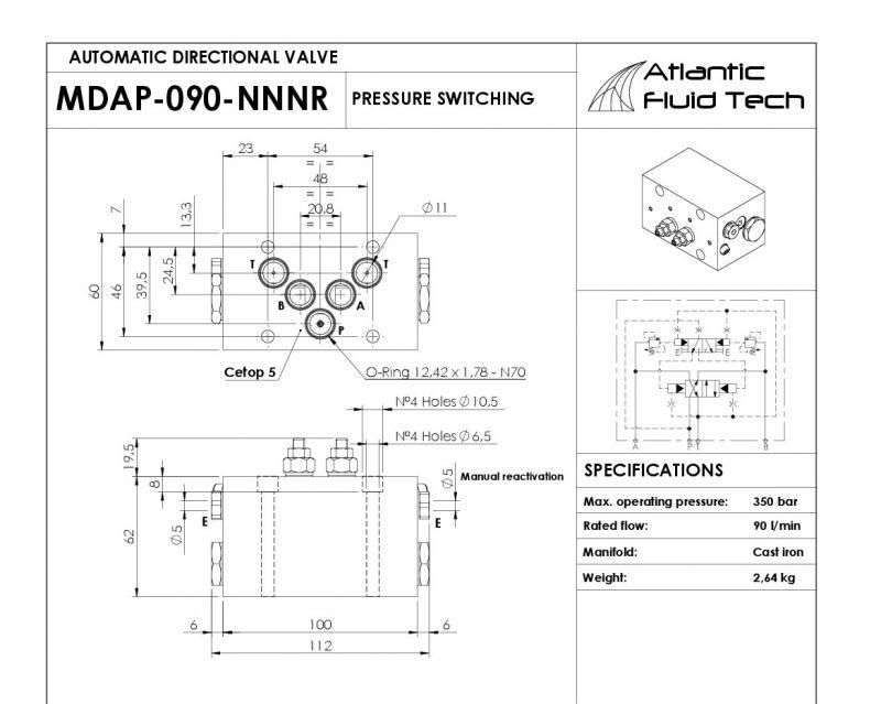 Offerta  Promozione valvole Direzionali Automatiche MD000030 Atlantic Fluid Tech