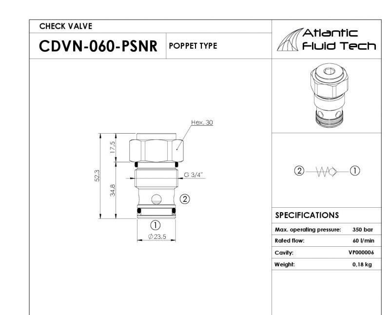 Offerta Check Valve CD000019 Atlantic - Promozione Valvola unidirezionale