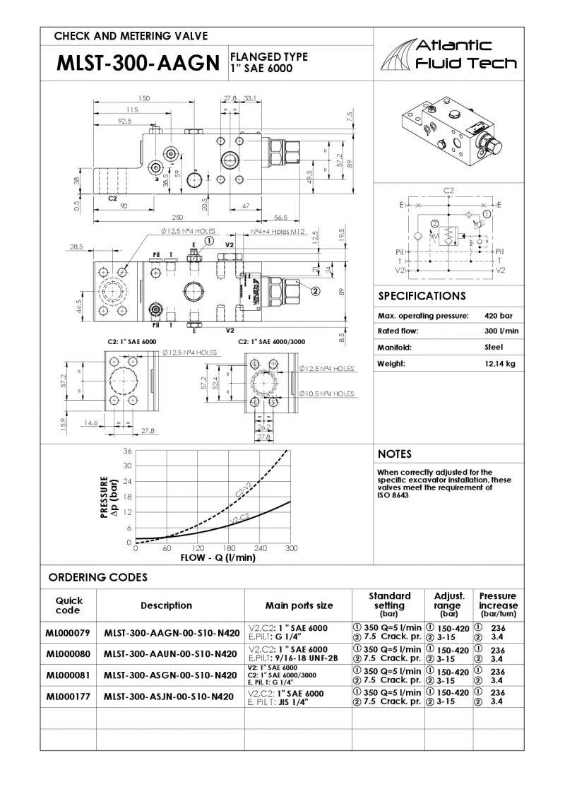 Offerta ML000079 Overcenter Escavatori - MLST 300 AAGN Atlantic Fluid Tech