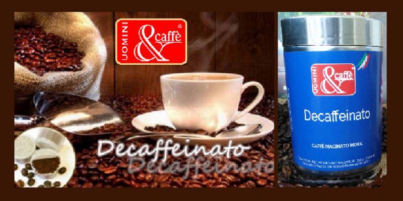 Uomini&Caffè offerta vendita online miscela caffè Moka DECAFFEINATO - Promozione decaffeinato