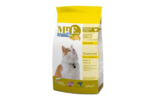 Forza10 Gatto Sterilizzato, MR Fruit Giallo Neutered Kg. 1,5