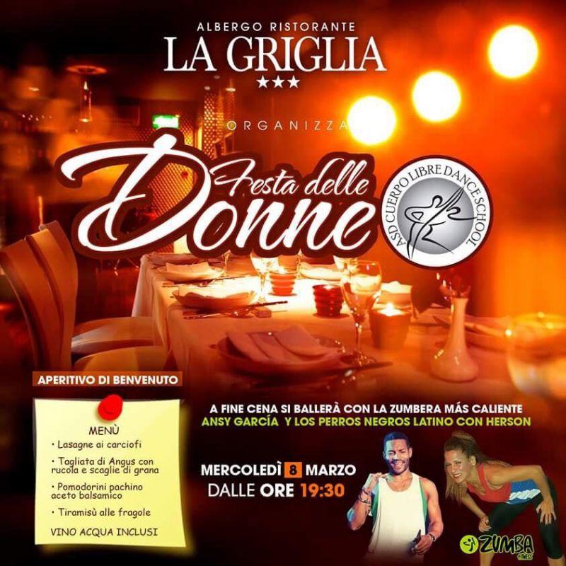 Offerta cena ballo Festa Della Donna Como - Promozione festa delle donne -Ristorante La Griglia