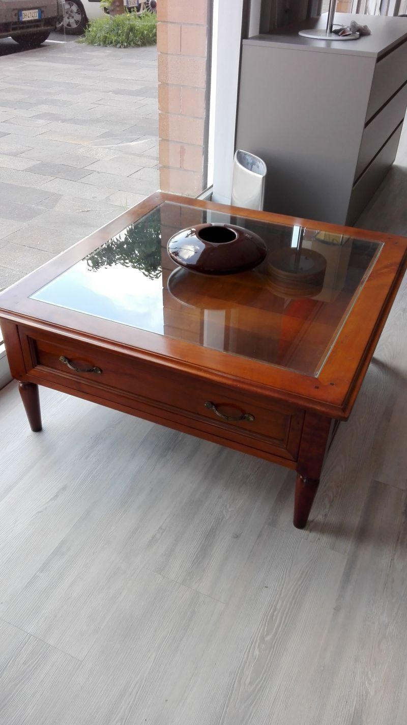 Tavolino salotto Marchetti Legno e Vetro
