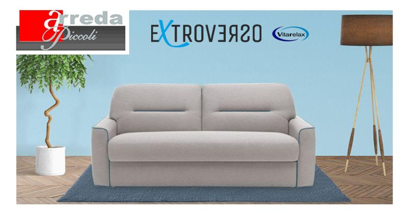 offerta divano letto extroverso vitarelax - promozione divano letto compatto comodo