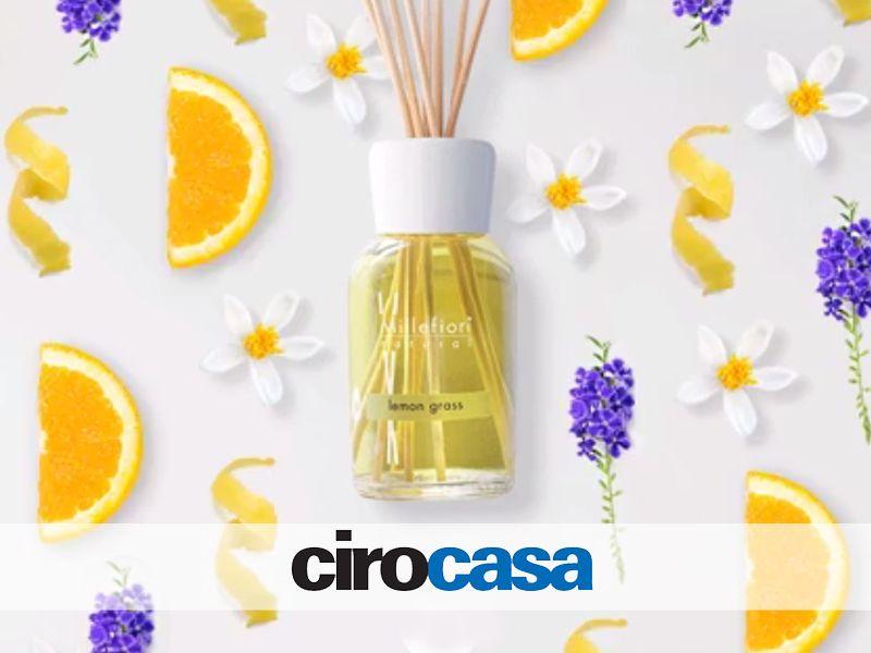 offerta fragranze profumo per ambienti - promozione lemongrass millefiori - cirocasa