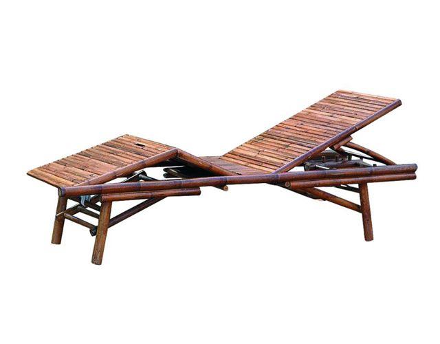 Offerta - Lettino da giardino in bambù Moia clb 93