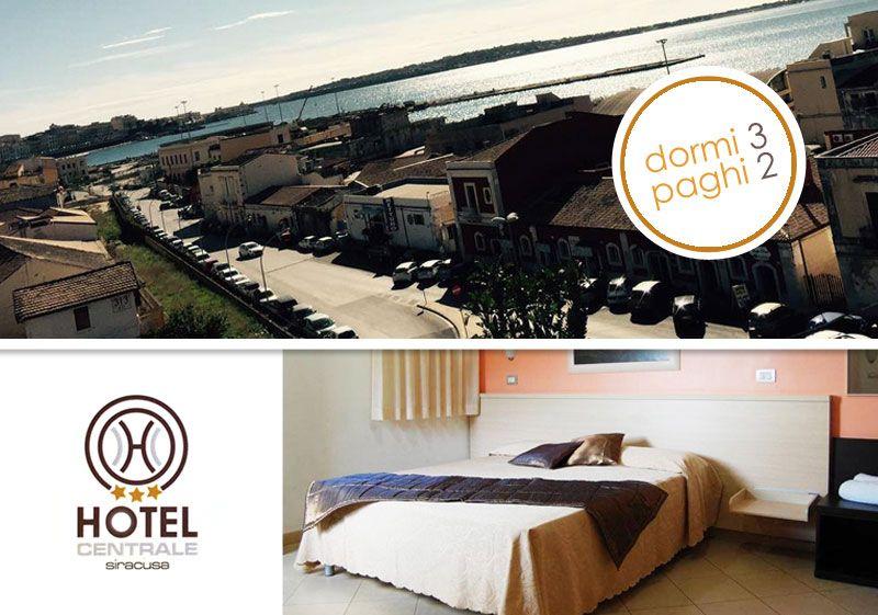 offerta pernottamento gratuito hotel vista mare siracusa - promozione hotel centrale siracusa