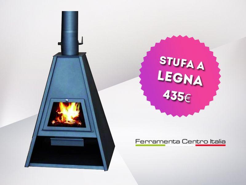 offerta stufa a legna delta - occasione stufa in acciaio delta - Ferramenta Centro Italia