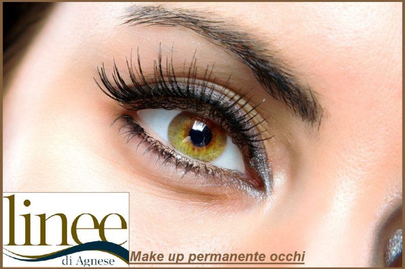 LINEE DI AGNESE offerta trattamento Make up permanente infracigliare sfumature punto luce occhi