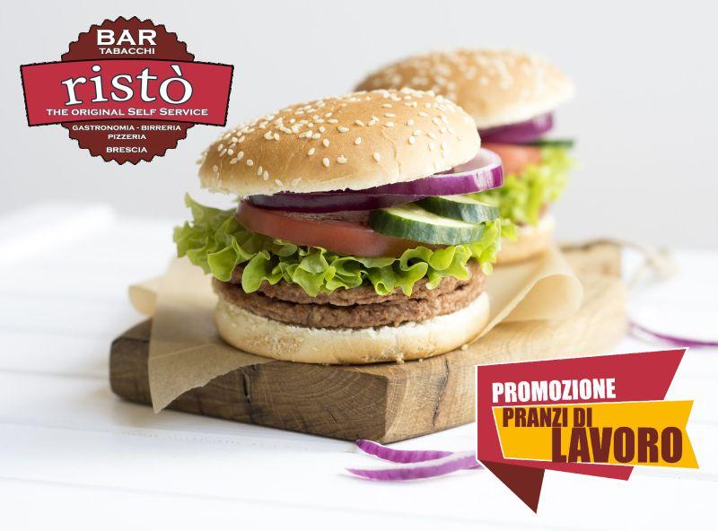 offerta pranzi di lavoro - promozione menu prezzo fisso - risto selfservice brescia