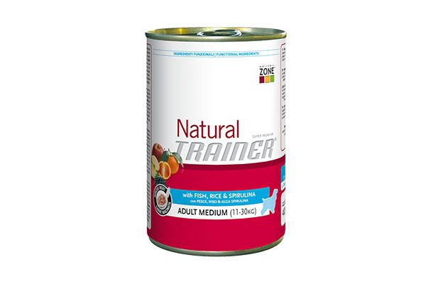 Natural trainer umido medium pesce