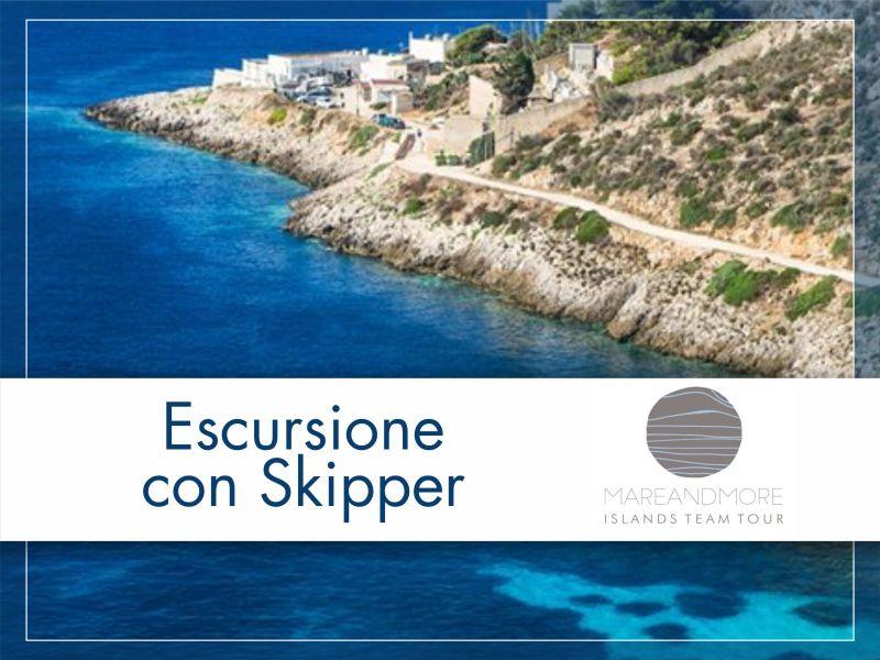 Offerta skipper Escursione gommone Trapani - Tour Guidato gommone Isole Egadi Favignana Levanzo