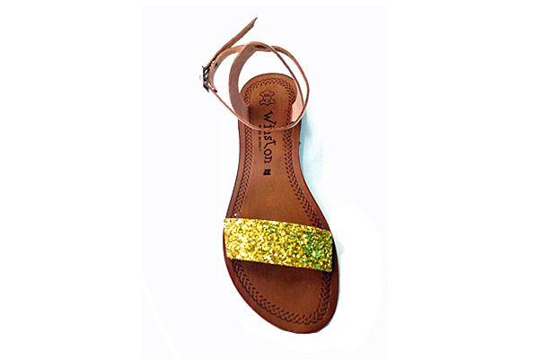 Offerta-Sandalo da donna in cuio