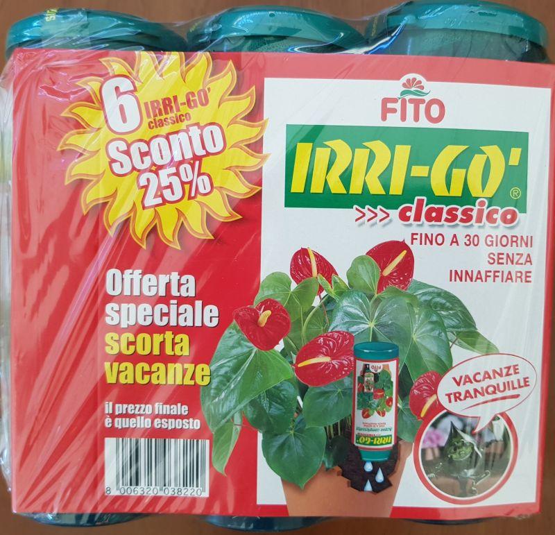 offerta Irrigo-irrigazione-vacanze piante-promozione acqua complessata-ben garden-varese
