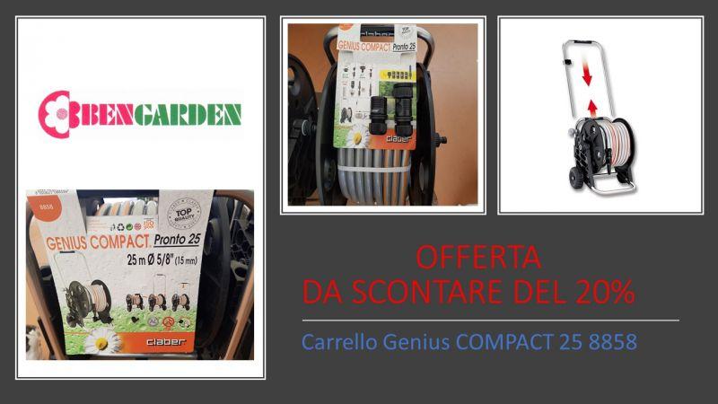 offerta irrigazione avvolgitubo - promozione carrello piante claber - ben garden