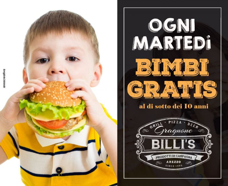 Billi's - ogni martedì i bambini mangiano gratis
