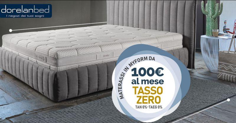 Offerta vendita materassi Dorelan confortevoli tasso zero a Lecce - Occasione Dorelanbed lecce