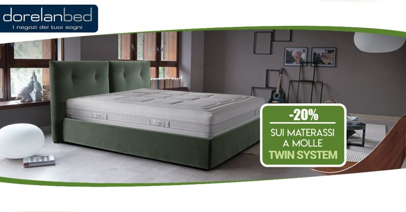 Offerta vendita materassi Twin System Dorelanbed Lecce - Promozione materassi a molle Lecce
